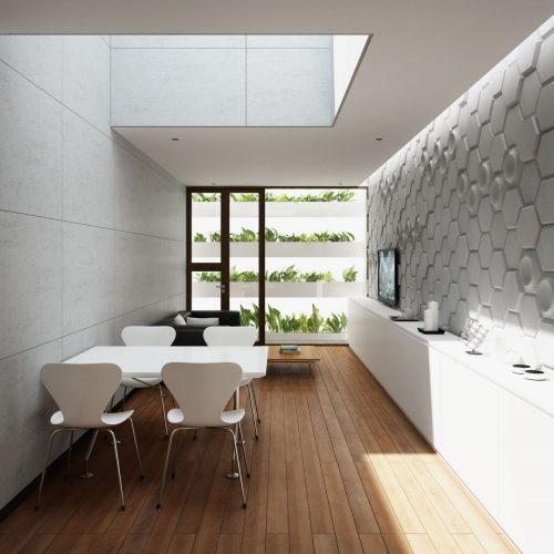PB01D Beton architektoniczny panel 3D