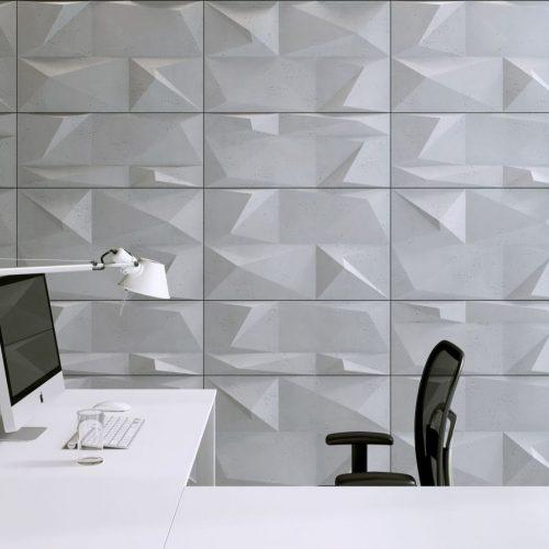 PB07 KRYSZTAŁ Beton architektoniczny panel 3D