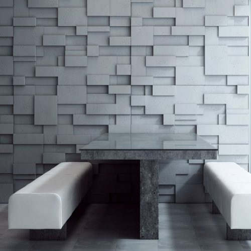 PB11 CUB Beton architektoniczny panel 3D