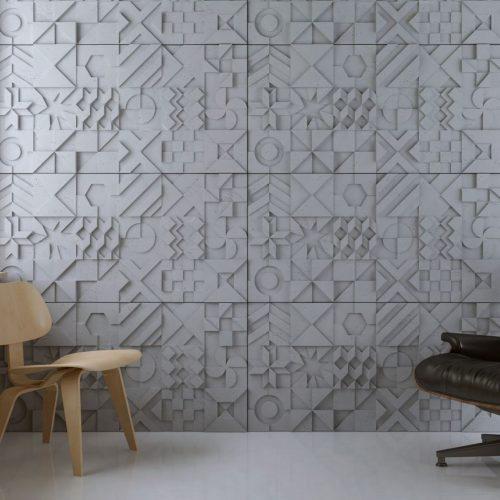 PB12 IKON Beton architektoniczny panel 3D