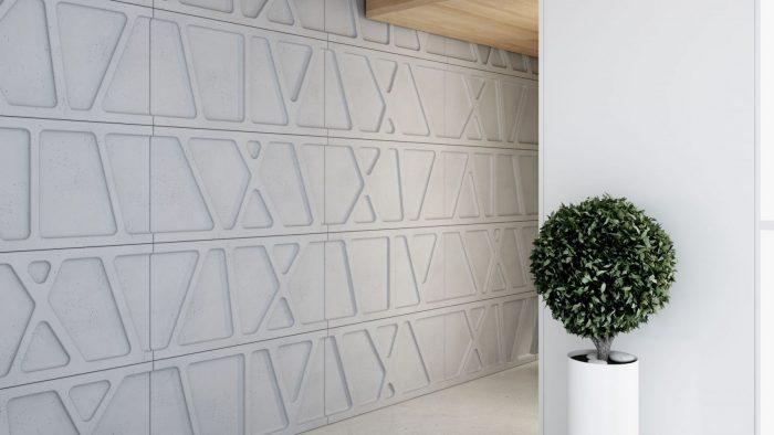 Ściana dekoracyjna z paneli 3d MODUŁ Centrum Betonu Architektonicznego