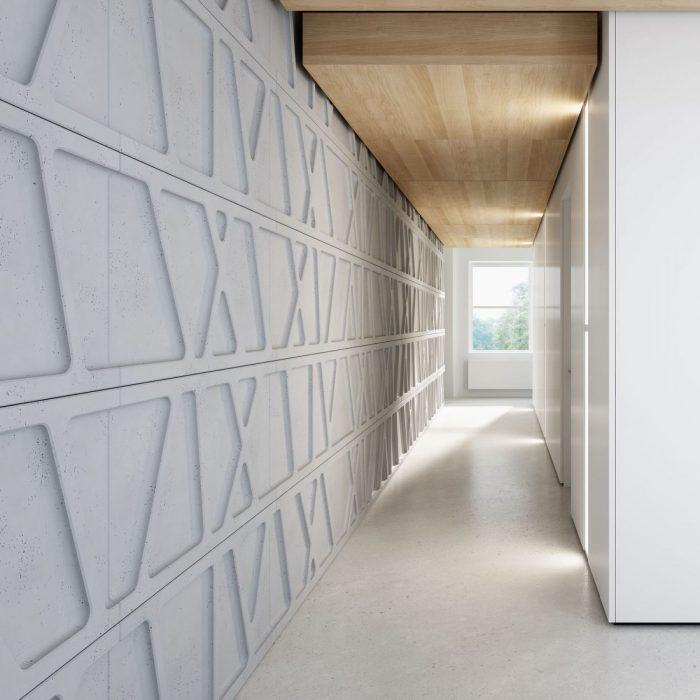 Wnętrze ściana z betonu panel 3d PB24 MODUŁ