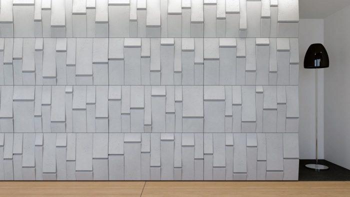 Realizacja ściany z paneli 3d VHCT PB25 TEKT