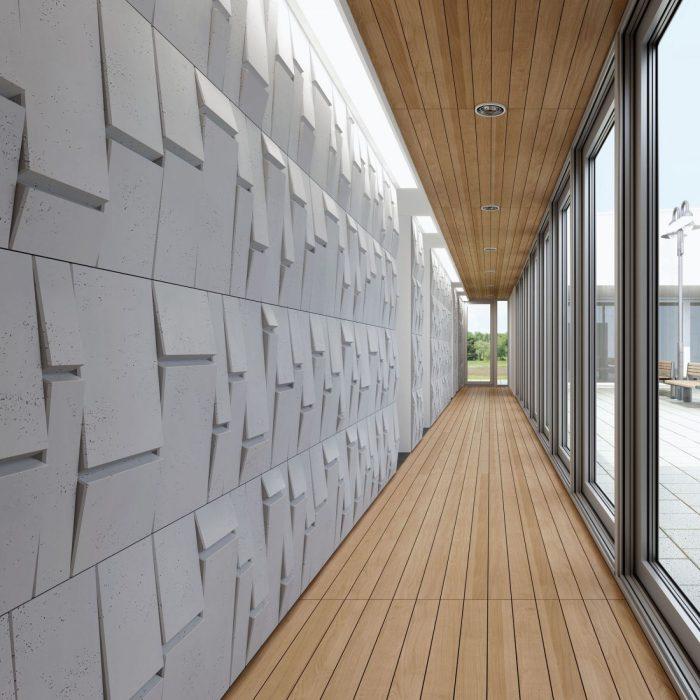 Centrum Betonu Architektonicznego realizacja u klienta Panel TEKT