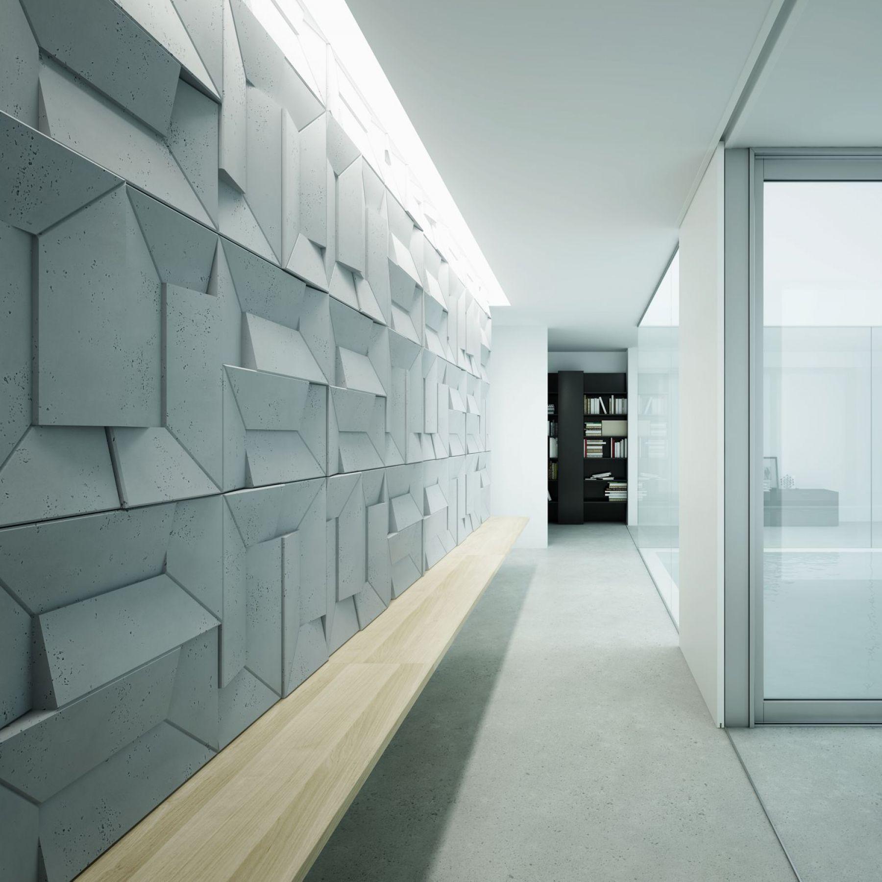 Przykład realizacji- ściana z paneli 3d ORI Centrum Betonu Architektonicznego