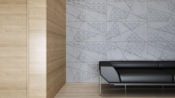 VHCT Ściana wykonana z betonowych paneli 3d PB29 Graf