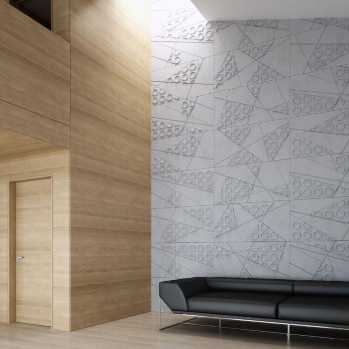 VHCT Wizualizacja ściany z paneli 3d PB29 GRAF