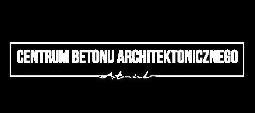 Centrum Betonu Architektonicznego logo małe białe stopka